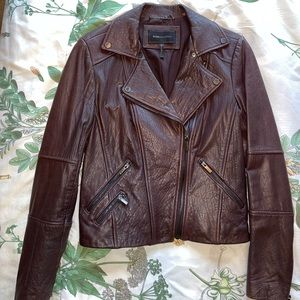 BCBGMazAzria Pebbled Leather Jacket